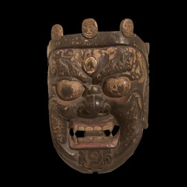 Wooden mask of Mahakala (18th century, Tibet, 35 cm X 25 cm)
