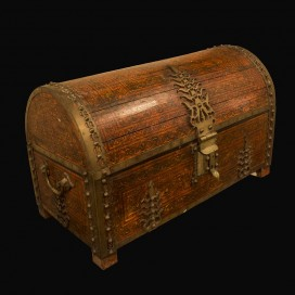 Wooden painted chest