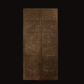 Wooden carved panel