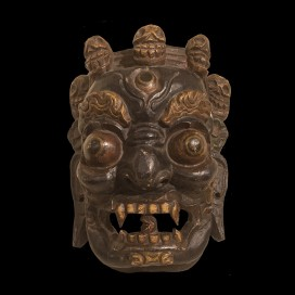 Wooden mask of Mahakala (18th century, Tibet, 30 cm x 20 cm)