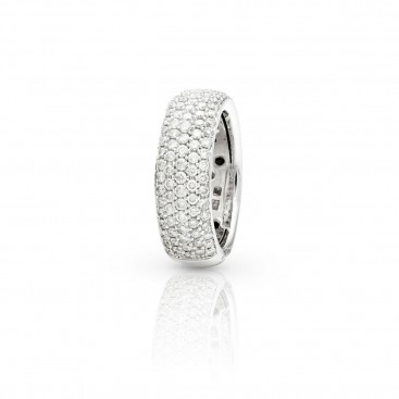 Ring 18kt White gold set with brilliants