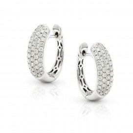 Ear Rings 18kt White gold set with brilliants