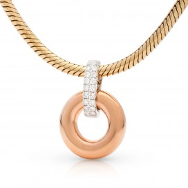 Pendant 18kt Rose gold set with brilliants