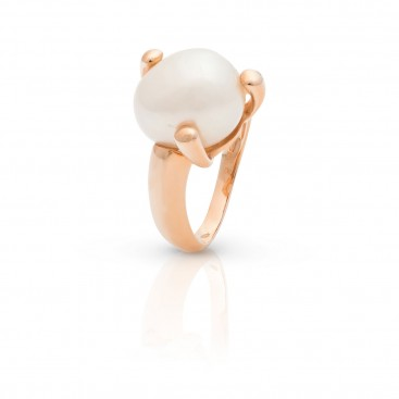 Ring 18kt Rose gold with pearl