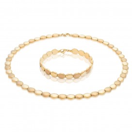 Necklace and bracelate 18kt Yellow gold