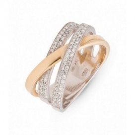 Ring 14kt Yellow gold set with brilliants