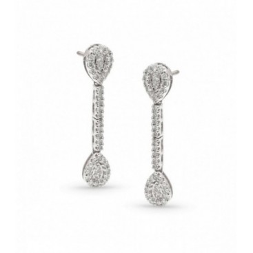 Ear hangers 14kt White gold set with brilliants