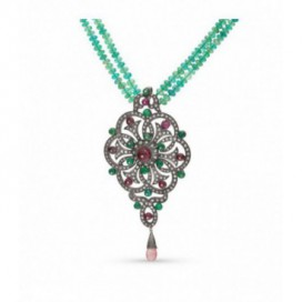 Art Deco (1925) silver and gold polished collier