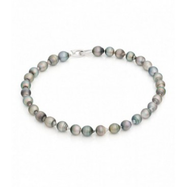Tahiti South Sea pearl necklace with silver lock