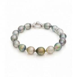 Tahiti South Sea pearl bracelet with silver lock