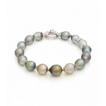 Tahiti South Sea pearl bracelet with silver lock