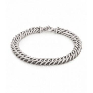 Solid silver bracelet