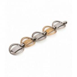 Art Deco (1925) silver and gold polished bracelet