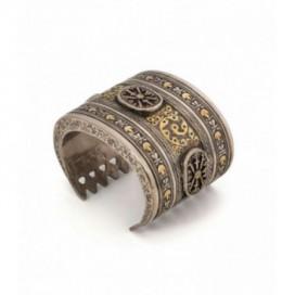 Antique silver gilded bracelet