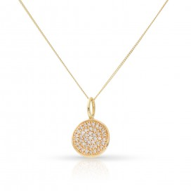 Pendant 14kt Yellow gold set with brilliants