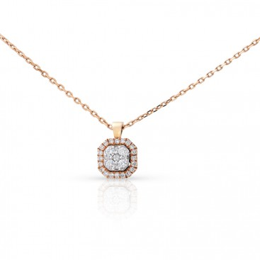 Pendant 18kt Yellow gold set with brilliants