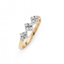 Ring 18kt Yellow gold set with brilliants
